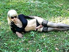 Lola Spais crossdresser in the forest