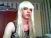 Vlada russian teen crossdresser on webcam