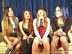 Cheyenne Jewel's first TS gang bang!!