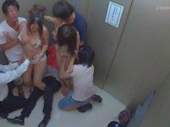 Bondage Cream Pie in the Locked Elevator : Maika, Aoi Miyama