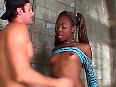 TS Aiemee gets her black dick sucked in jail
