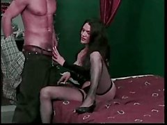 Charming Trans Blowjob For Erect Cock