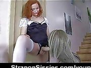 Crossdresser fucked with strapon