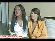 Transsexual Domina Ties and Hard Anal and Pussy Fucks her Slave