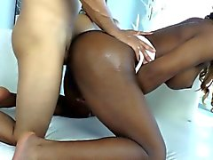 Black shemale assfucked with white cock