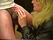 Amateur crossdresser sucking cock