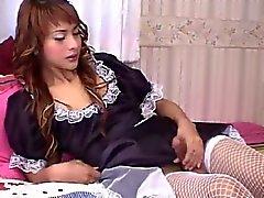 Ladyboy Gita French Maid
