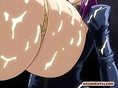 Bondage hentai shemale maid with monster boobs and cock hard