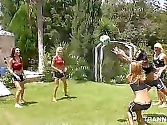 Volleyball Game Turns into Steamy Six Tranny Shemale Gangbang with 1 Lucky Dde