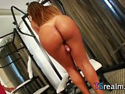 Latin Shemale Erika Backster Plays With Her Cock