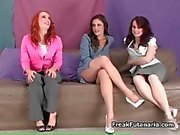 sexy redhead and brunette whores get