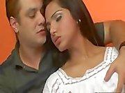 Sexy busty shemale Drikinha Lima analed