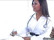 Ladyboy nurse Carmen Moore treats patient