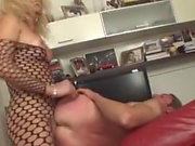 Tranny in a fish suit fucks guy
