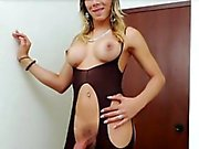 Sexy Tgirl Keycee plays her boner alone