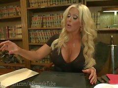 Big Tittied Blonde Boss TS Dominated