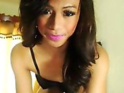 Gorgeous Filipina Shemale Wildly Faps Her Cock
