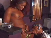 Black tranny got blowjob in a pub