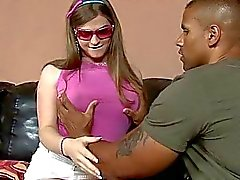 Busty TS Tiffany Starr interracial anal