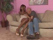 Sweet ebony Tgirl ramming