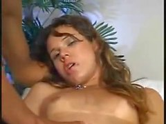 Extreme condom sex after sucking in the arm-chair