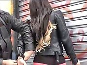 Arrested tgirl Danielly Colucci harshly fucked the police