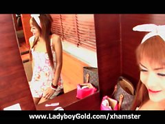 Ladyboy Sandy Pajama Cosplay Party