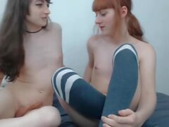 Teen traps playing with each other