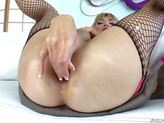 Big breasted Shemale Eva Lin loves dildo in the ass