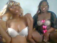 Black TS and Female camshow