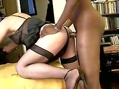 Black stud fucks crossdresser