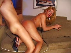Shemale Carla sucks and gets fucked