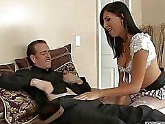 Sexy TS Vivian Rockwell in pantyhose asshole ripped hard