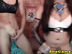 Two Shemale Having Hot Sex On Cam