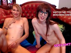 Nerdy tgirls suck small dicks 69