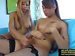 Shemale ebony amateur with tight ass getting plowed