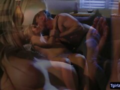 Blonde tbabe Kayleigh Coxx in a fast paced anal reaming