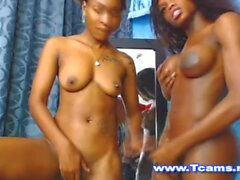 sexy brown tranny & girl